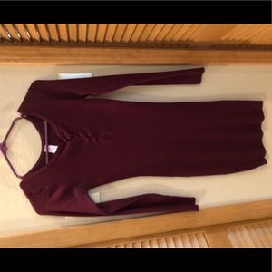 Dresses & Skirts - Maroon Sweater dress